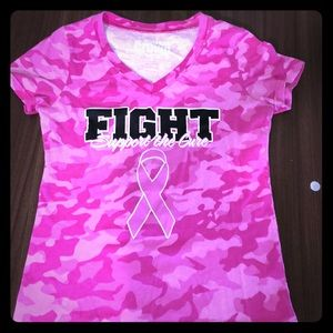 Pink fight for the cure tshirt